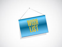 Wish list banner sign concept illustration Stock Image