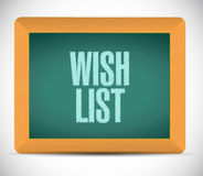 Wish list board sign concept illustration design Royalty Free Stock Image