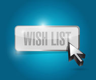Wish list button sign concept illustration Stock Images