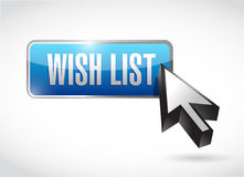 Wish list button sign concept illustration design Stock Photography