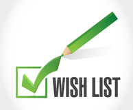 Wish list check mark sign concept illustration Stock Photo