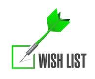 Wish list check mark sign concept Stock Photo