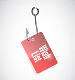Wish list hook sign concept illustration Stock Photography