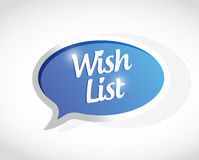 wish list message sign concept illustration Royalty Free Stock Images