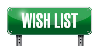 Wish list metallic sign concept illustration Royalty Free Stock Photo