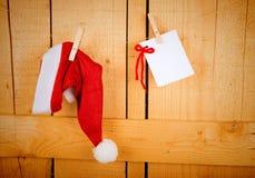 Wish list and Santa cap Stock Image