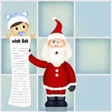 Wish list for Santa Claus Royalty Free Stock Images
