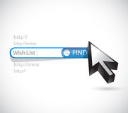 Wish list search bar concept illustration Stock Images