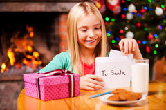 Wish list to Santa. Royalty Free Stock Photos