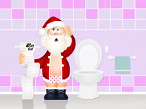 Wish list on toilet paper Royalty Free Stock Photography