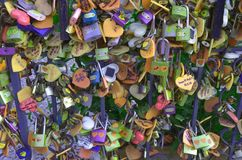 Wish lock love key attach together eternity until die royalty free stock image