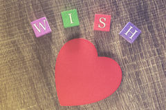 Wish for Love message Stock Photography