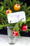 The wish of Merry Christmas in English Stock Images