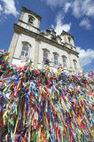 Wish Ribbons Blue Sky Bonfim Church Salvador Bahia Brazil Royalty Free Stock Photos