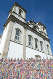 Wish Ribbons Blue Sky Bonfim Church Salvador Bahia Brazil Stock Photos