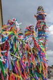 Wish ribbons of Bonfim church in Salvador Bahia, Brazil. Wish ribbons of Bonfim church in Salvador Bahia on Brazil royalty free stock photography