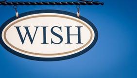 Wish sign Royalty Free Stock Photos