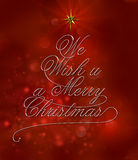 We wish u a merry christmas. With typography design Royalty Free Stock Photos