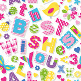 Wish you all the best wishes pattern Royalty Free Stock Images