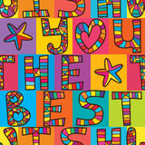Wish you the best seamless pattern Royalty Free Stock Photo