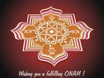 Wish you a fulfilling onam Stock Photo