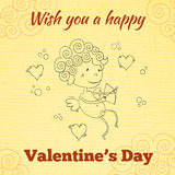 Wish you a happy Valentines Day greeting card Stock Photography