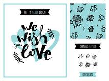 Wish you love poster graphics Royalty Free Stock Photos
