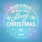 Wish you a Merry Christmas Stock Photos