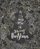 We Wish You a Merry Christmas! Stock Photography
