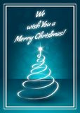We Wish You a Merry Christmas Greeting Card royalty free illustration