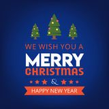 We Wish you a Merry Christmas and happy new year background vector illustration