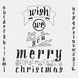 Wish we you merry christmas insignia  and labels Stock Photography