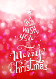 We Wish You a Merry Christmas. Royalty Free Stock Photos