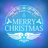 We wish you a Merry Christmas Stock Photography
