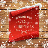 We wish you a very Merry Christmas background. Stock Photos