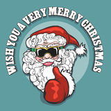 Wish You A Very Merry Christmas Emblem Stock Images