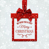 We wish you a very merry Christmas, square banner. Stock Image