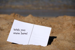 Wish you were here! Royalty Free Stock Photography