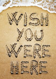 Wish You Were Here Stock Image