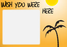Wish You Were Here Royalty Free Stock Images