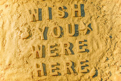 Wish You Were Here Royalty Free Stock Photography