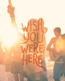 Wish you were here vector Stock Image