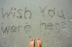 Wish you were here writing