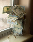 Wishbone βάζων χρημάτων Στοκ Εικόνα