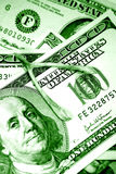 Wishbone no dinheiro Fotografia de Stock