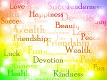 Wishes. Multicolored best wishes bright background Stock Photo