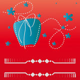 Wishes. Red background with fancy gift Stock Images