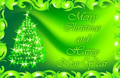 Wishes for Christmas and the New Year. Christmas card. Gift. Stock Photo