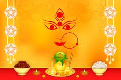 Wishes for Durga Puja Stock Images