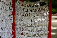 Wishes hung at Japanese temple Stock Photos